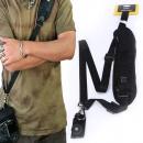 Convenient Quick Rapid Camera Single Shoulder Sling Belt Strap Black for SLR DSLR