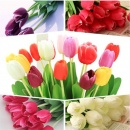 Artificial Flowers Tulips Bouquet Party Home Wedding Bridal Silk Fresh-look