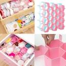 Bra Underwear Divider Storage Box Wardrobe Closet Drawer Honeycomb Partition Scarfs Socks Organizer