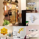 12Pcs 3D Mirror Hexagon Vinyl Removable Wall Stickers Art DIY Decal Home Decor