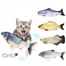 1Pc Electric Cat Fish Catnip Toy 320mAh Battery USB Charging Pet Chewing Biting Tool