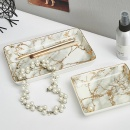 Nordic Jewelry Storage Tray Marble Ceramic Plate Dish Dessert Food Plate Ring Necklace Organizers