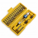 20Pcs 1/4 Inch Hex Shank Drill Screwdriver Bit Set with Drill Chuck Quick Changing Drill Driver