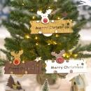 Wooden Christmas Elk Pendant Christmas Hanging Board Christmas Listings Decoration Home Decor