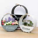1Pc Creative Iron Wall Hanging Flower Pot Home Living Room Balcony Decorative Display Storage Bucket