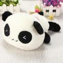 "10"" Cute Soft Plush Stuffed Smiling Panda Pillow Bolster Gift Kawaii Doll Toys"