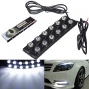 2x 6 LED Soft Strip Daytime Running Light DRL Auto Car Eagle Eye Fog Lamp 12V
