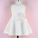 Kids Toddlers Girls Princess Birthday Party Flower Solid Lace Skirt Dress 18M-6Y
