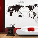 DIY World Trip Map Removable Vinyl Art Wall Sticker Decal Mural Home Room Decor Black