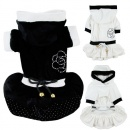 Winter Cute Warm Dog Cat Pet Clothes Hoodie Coat Dress Apparel Dog Cat Coat Costumes Outwear with Hat