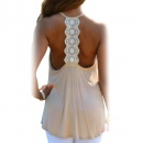 Sexy Women Summer Casual Strap Backless Tank Vest Loose Sleeveless Asymmetric Hem Tops