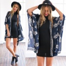 Summer Fashion Women Ladies Casual Print Kimono Cardigan Blouse Tops Beach Wear