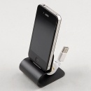 Black USB Charger Dock Station Cradle Sync Stand Holder for Apple IPhone 4 4G 4S