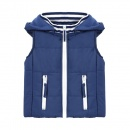 Vogue Cool Baby Kids Boys Wear Hooded Sleeveless Cotton Jacket Vest Coat