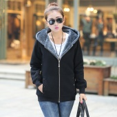 Fashion Casual Women Ladies Thicken Warmer Hoodie Coat Outerwear Jacket