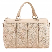 2012 Lady's Handbag Oblique Carry Casual Big Bag Retro Lace Bags