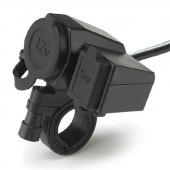 Waterproof Motorcycle USB Cigarette Lighter Power Port Integration Outlet Socket