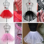 Women Fashion Petticoat Bride Tutu Solid Swing Rockabilly Pinup Under Dress Pettiskirt