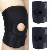 2Pcs Adjustable Sports Knee Pads Non-slip Training Elastic Hole Kneepad Fitness Safety Guard
