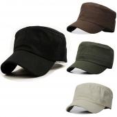 Classic Plain Vintage Hat Cadet Patrol Cap Adjustable 4 Colors