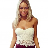 Sexy Lace Vest Spaghetti Strap Vest Slim Tank Top for Fashion Girls Party Shopping