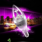 3W LED Warm White Spot Light Lamp Candle Shape Replacement Lights Bulb E14 85v-265v