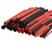 42pcs Red Black Heat Shrink Tubing Polyolefin 2:1 Electrical Wrap Wire Cable Sleeves Insulation Shrinkable Tube Assortment Kit
