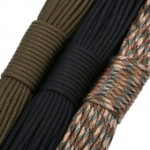 Authentic MIL-C-5040H Type III 550 Paracord (Parachute Cord) - 98ft of Black Paracord Rope