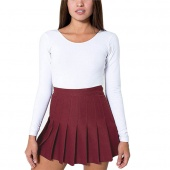 Fashion Women Slim Thin High Waist Pleated Tennis Skirt Skater Flared Mini Dress