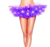 Led Light Tutu Micro Mini Partly Stage Show Sexy Club Dresses Bubble Skirt