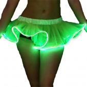 Women Organza Tutu LED Party Dance Skirt Light up Mini Tutu Petticoat