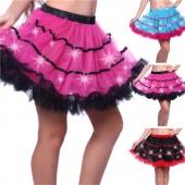 Womens Sexy Light Up Petticoat Fashion Girls Tutu Skirt with LED