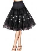 6 Colors Knee Length Women Tulle Skirt Slips Petticoat Crinoline Underskirt Led Light Costume