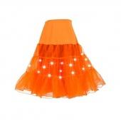 8 Colors Knee Length Women Tulle Skirt Slips Petticoat Crinoline Underskirt LED Light Costume