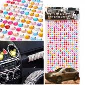 1 Sheet Self Adhesive Rhinestone Crystal Stickers Car Phone Decor DIY Handmade Craft Decals Stickers