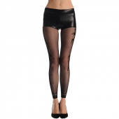 Women Fashion Sexy Fishnet Floral Printed Opaque Footless Tights Pantyhose