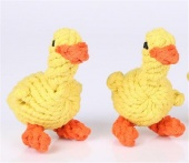 2 Pack Dog Toys Duck Pet Cotton Chew Rope Toy Dental Teaser Teeth Cleaning for Small Dog Puppy Biting
