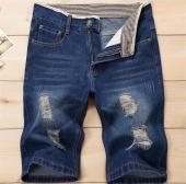 Summer Men's Skinny Hollow Out Jeans Denim Shorts
