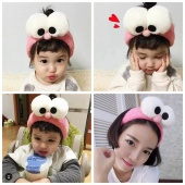 Funny Cartoon Big Eyes Washing Face Paste Headband Hairband