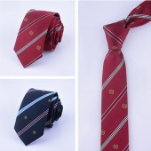 Mens Ties Crown Pattern Skinny Slim Necktie Fashion Casual Striped Neck Tie