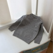 Toddler Girls Boys Kids Baby Solid Sweater Knit Pullovers Warm Coat Outerwear Clothes