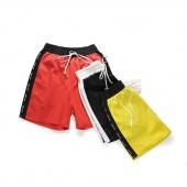Summer Men Drawstring Slim Patchwork Running Fitness Surf Board Short Pants Beach Sport Boxer Shorts