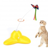 Elite Electric Rotating Butterfly Cat Teaser Toy (Extra Butterfly Included)