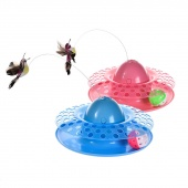 E-spinning with the Flying Bird Rotating and Training Cat Toys