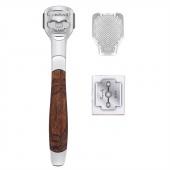 Foot Care Pedicure Callus Shaver Hard Skin Remover Wood Handle 10 Blades