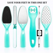 8 PCS Foot File Remover Piece Colossal Foot Rasp Foot Peel and Callus Clean Feet Dead Skin Tool Set