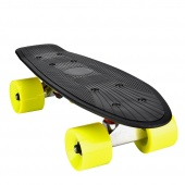 Cruiser Skateboard Complete Plastic Banana Board with Bendable Deck and Smooth PU Casters for Kids Boys Youths Beginners