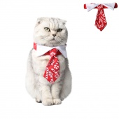 Pet Cat Dog Red Collar Dress up Party Candy Print Collar Christmas Costume Collars Pet Cat Funny Costume Accessories