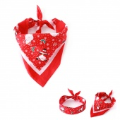 Christmas Pet Dog Scarf Collar Tie Santa Claus Snowflakes Patterns Dogs Triangle Scarf