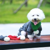 Holiday Dog Cat Collar Scarf Pet Costume Apparel Winter Knit Scarf Pet Costume Accessories